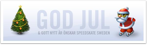God Jul önskar Speedskate Sweden